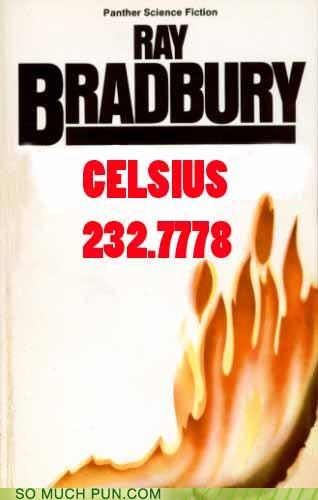 book celsius conversion fahrenheit fahrenheit 451 Hall of Fame novel ray bradbury - 5277302528