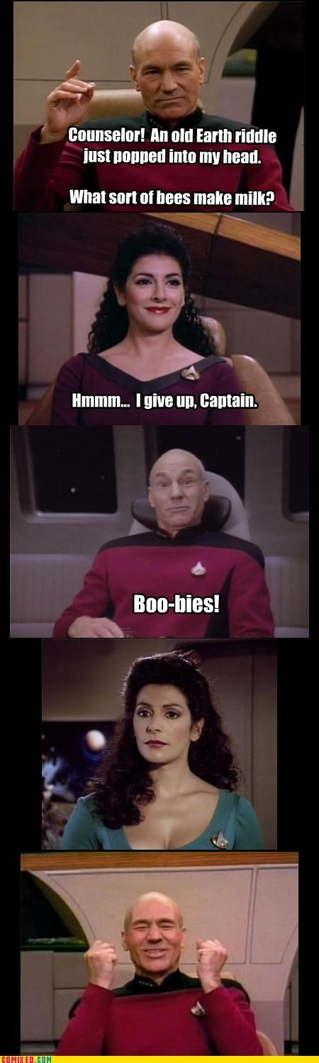 bees best of week boo-bies captain picard Star Trek Troi - 5277676544