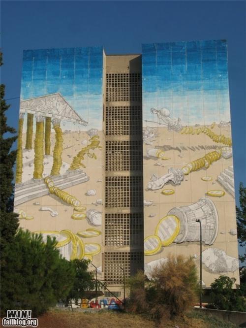 art commentary greek political Street Art - 5277685248