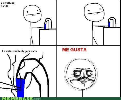 me gusta,Rage Comics,warm,washing hands,water