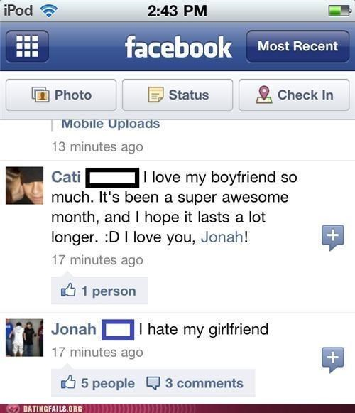 disagreement,facebook,status,We Are Dating