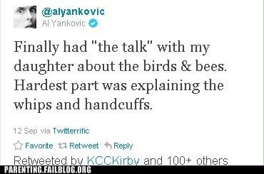 Awkward birds and the bees celebrity parenting Parenting Fail parents have sex too the talk Weird Al Yankovic - 5277862912
