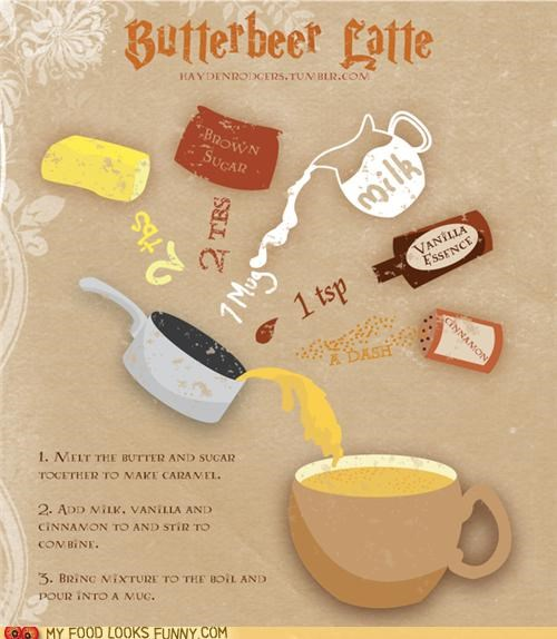 best of the week,butterbeer,funny food photos,Harry Potter,latte
