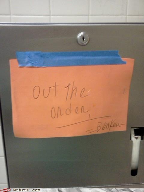 broken out of order sign - 5278006784