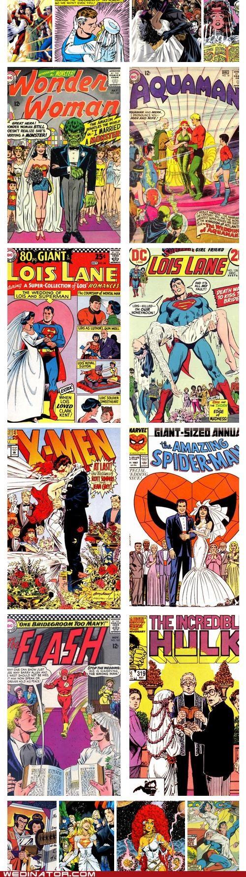 batman comic books comics funny wedding photos Hall of Fame Spider-Man superheroes superman x men - 5278157312