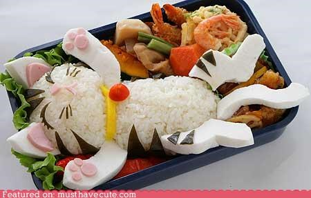 bento box epicute food kitty rice rice balls - 5278766080