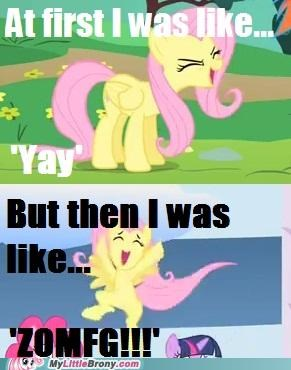cheering comics fluttershy louder yay zomfg - 5279281920