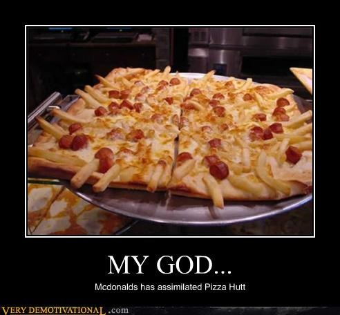 fries hilarious McDonald's pizza pizza hut