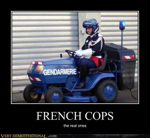 cops french hilarious tractor wtf - 5279786496