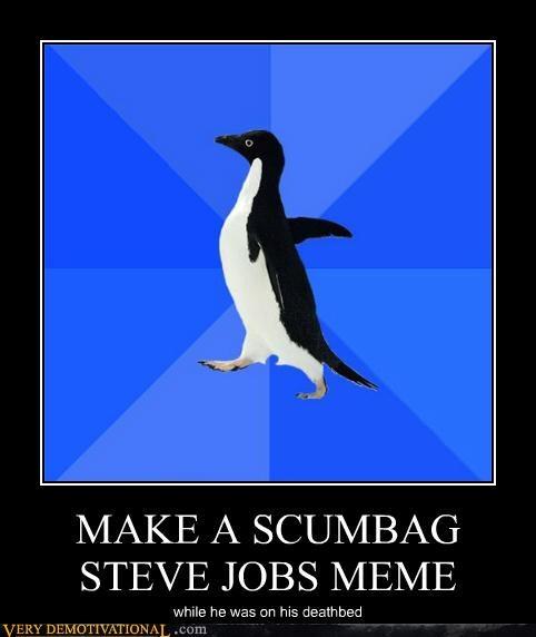 Death Sad socially awkward penguin steve jobs - 5279983872