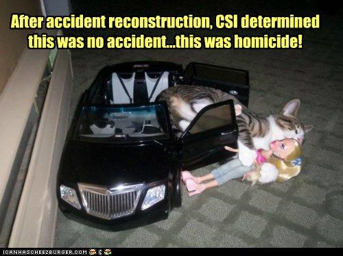 After accident reconstruction, CSI determined this was no accident...this was homicide!