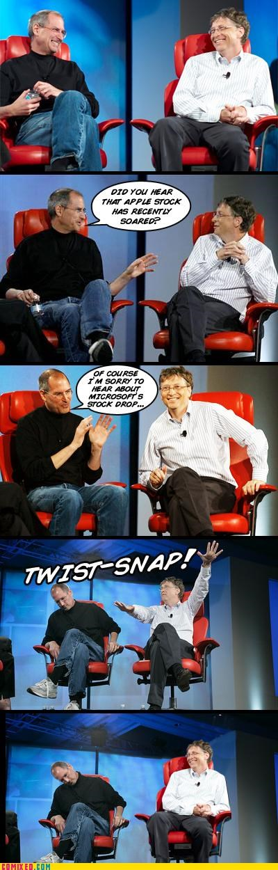 apple,Bill Gates,meme,rip,steve jobs,the internets,twist snap