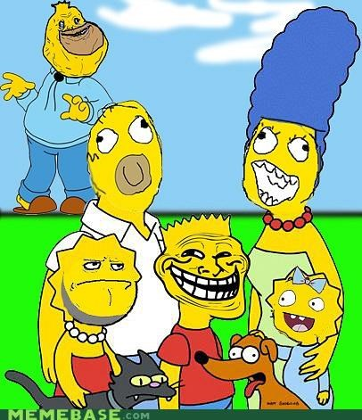 bart cartoons faces fox maggie Rage Comics simpsons - 5280777728