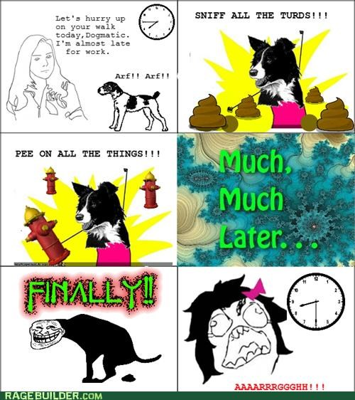 annoying dogs Rage Comics walk - 5280989440