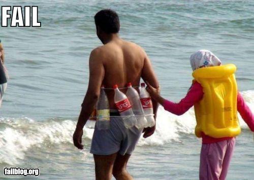 coke bottles failboat g rated stupidity swimming - 5281120512