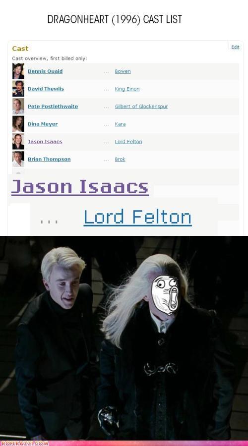 actor awesome celeb funny Harry Potter Jason Isaacs tom felton - 5281229568