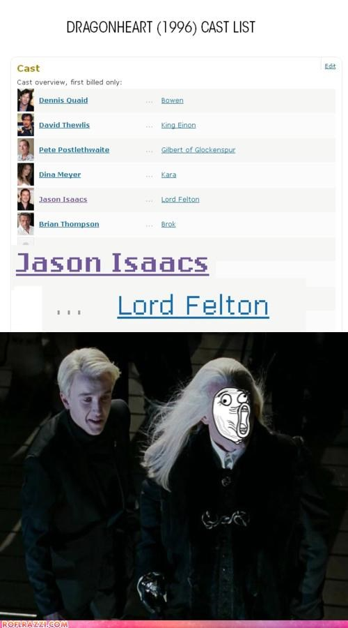 actor awesome celeb funny Harry Potter Jason Isaacs tom felton - 5281229568