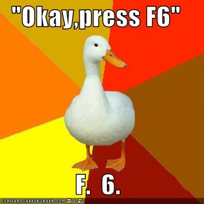 6,buttons,computers,f,f6,numpad,Technologically Impaired Duck