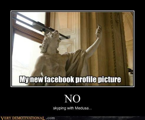 facebook,hilarious,medusa,skype,statue