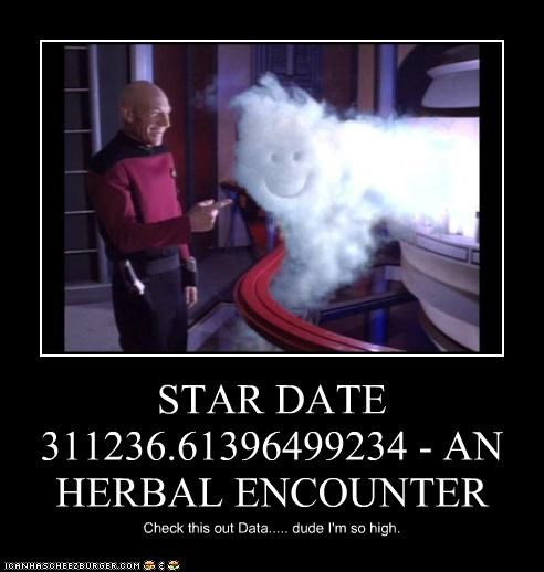 STAR DATE 311236.61396499234 - AN HERBAL ENCOUNTER Check this out Data..... dude I'm so high.