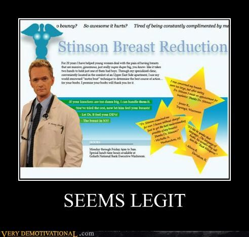 hilarious how i met your mother reduction seems legit