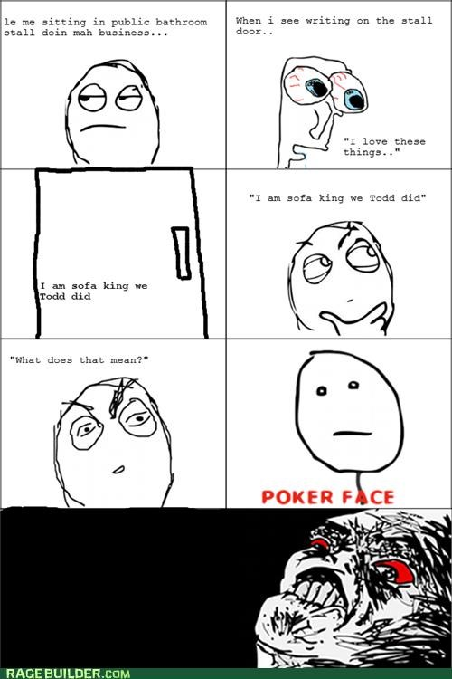 poker face pooptimes Rage Comics sofa king - 5281758208