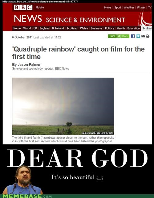 bbc first time Memes news quadruple rainbow science - 5281786368