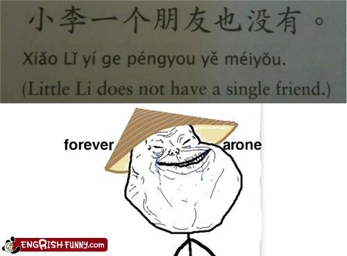 book chinese forever alone language learning lonely meme Rage Comics