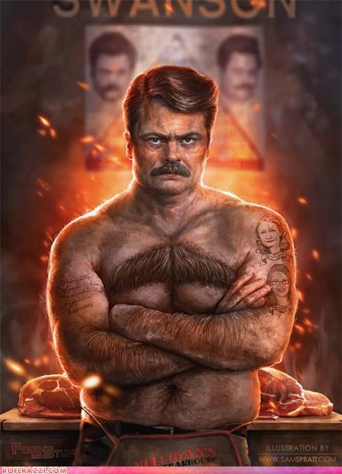 art awesome cool Nick Offerman parks and rec ron swanson TV - 5282134528