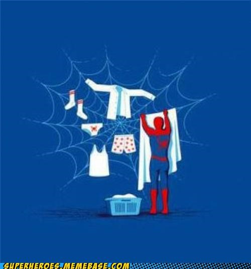 clothes Awesome Art Spider-Man drying webs - 5282182912