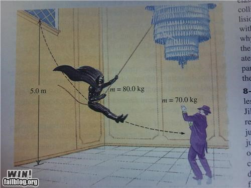batman comic book math problem nerdgasm physics textbook - 5282314752