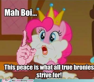 Bronies crossover hail mah brony peace pinkie pie strive - 5282336768