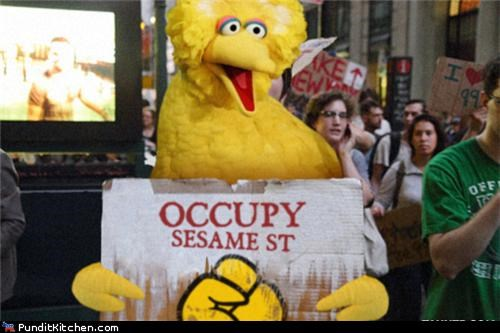 Hall of Fame Occupy Wall Street political pictures Sesame Street