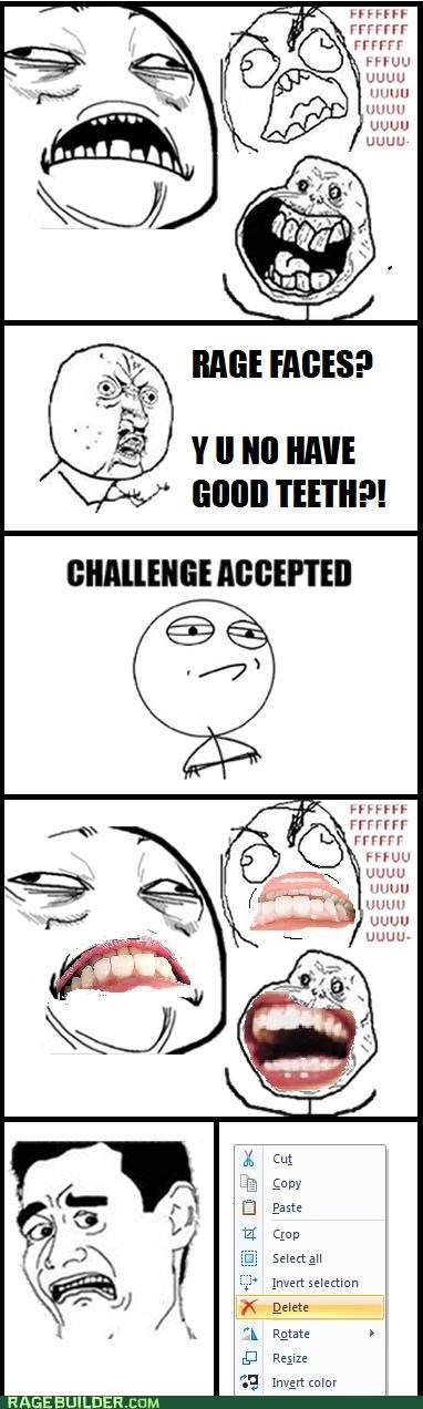 Rage Comics rage faces scary teeth - 5282395904