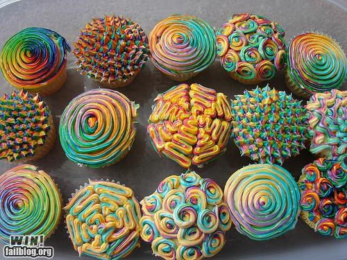 All the Colors of the Rainbow cake cupcake design dessert food frosting pretty colors rainbow - 5282412800