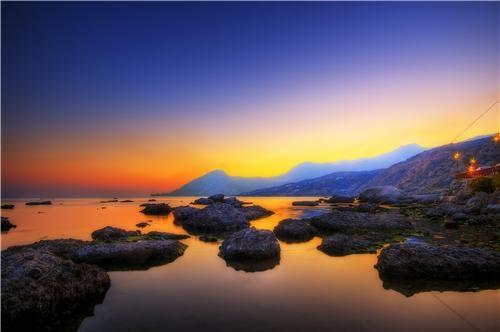 blue crete europe getaways greece mediterranean mediterranean sea orange water yellow - 5282576896