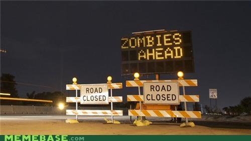 halloween IRL sign zombie - 5282668032