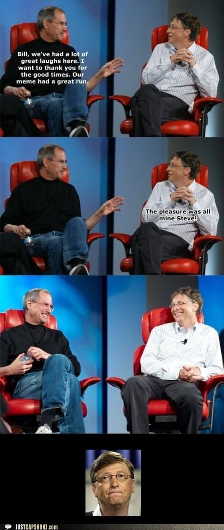 Bill Gates,Death,end,Memes,multipanel,Pundit Kitchen,rip,Sad,steve jobs