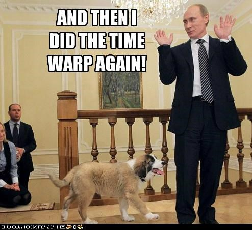 dancing lets-do-the-time-warp-again Pundit Kitchen Rocky Horror Picture Show time warp Vladimir Putin - 5283171072
