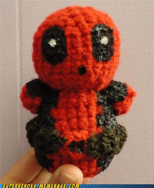 Awesome Art craft cute deadpool knitting