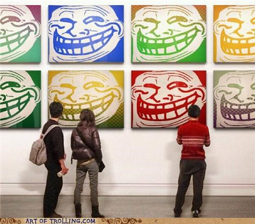 art,painting,troll face