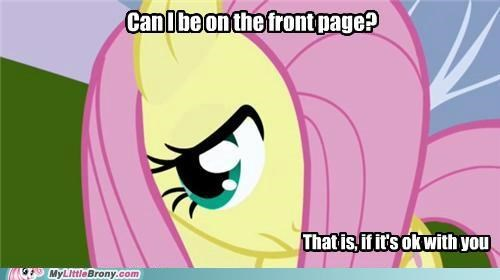 fluttershy front page no way ponies tell her no - 5283704832