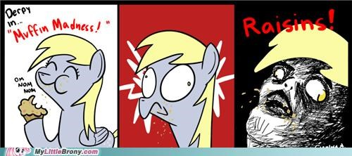comics derpy hooves muffin rage comic raisins - 5283780608