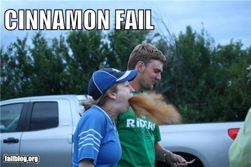 barf cinnamon failboat food g rated gross spit - 5283972352