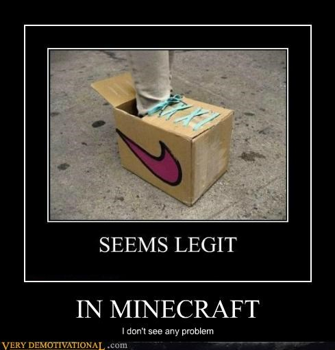 Hall of Fame hilarious minecraft shoes video games - 5284266496