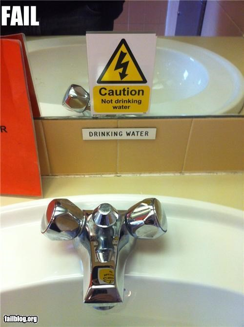 bathroom contradiction failboat g rated irony signs water