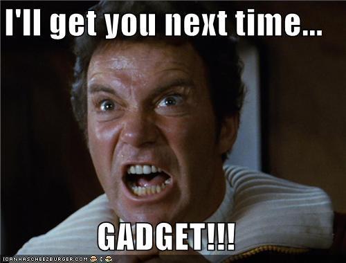 Captain Kirk gadget inspector gadget Star Trek William Shatner - 5284519680