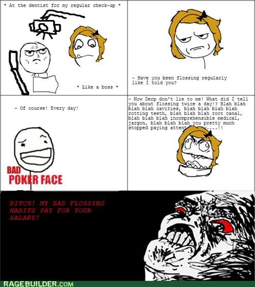 dentist,flossing,Rage Comics,salary