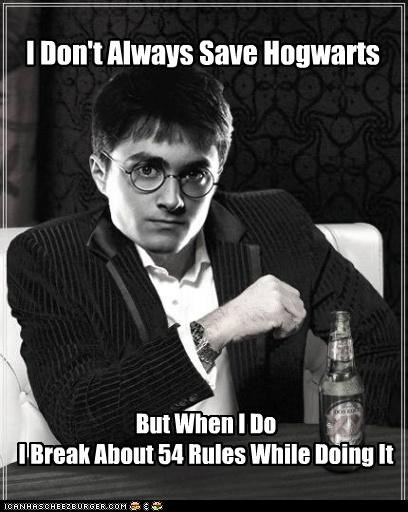 graduate Harry Potter Hogwarts rules school the most interesting man in the world - 5284671232