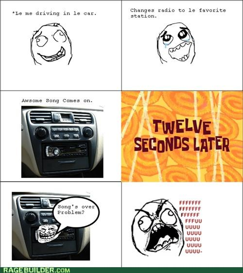 driving radio Rage Comics song